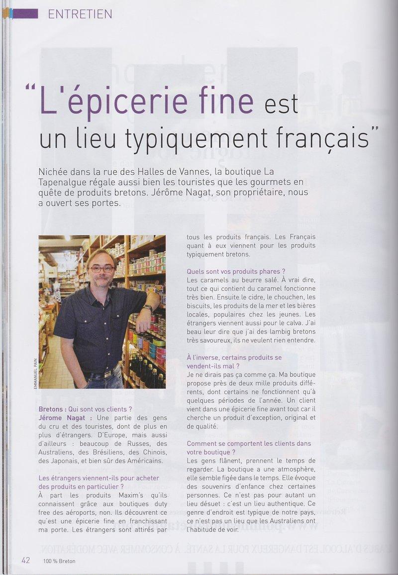 article breton sur la tapenalgue