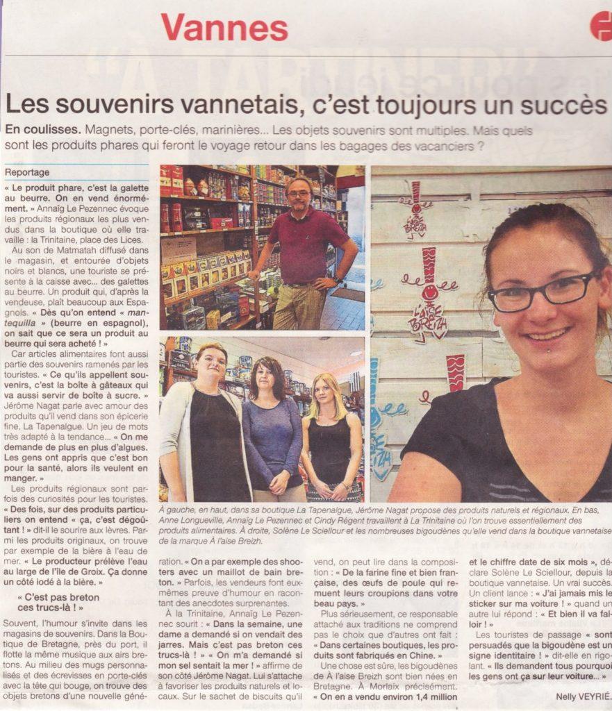 article Ouest France Aux Mille délices